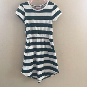 Lularoe Green/White Striped Mae Dress Size 4